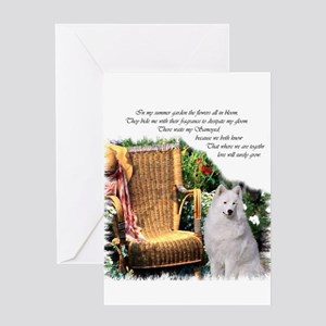 Samoyed Art Greeting Card