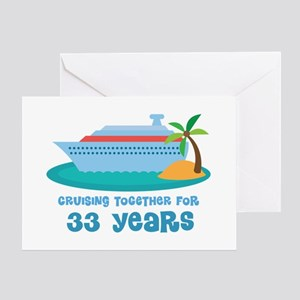33rd Anniversary Cruise Greeting Card