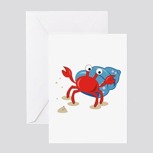Dancing Crab Greeting Cards