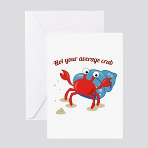 Average Crab Greeting Cards