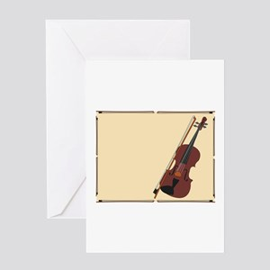 Violin Greeting Cards