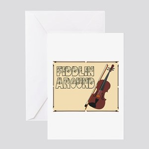 Fiddilin Around Greeting Cards