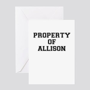 Property of ALLISON Greeting Cards
