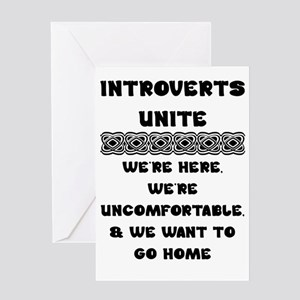 Introverts Unite Greeting Cards