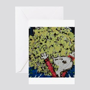 SHAGGY AFRO DOG HAIR Greeting Cards