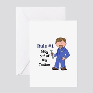 STAY OUT OF MY TOOLBOX Greeting Cards