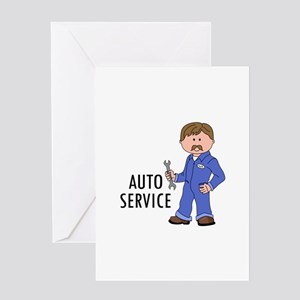 AUTO SERVICE Greeting Cards