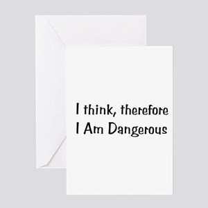 Dangerous Thinker Greeting Cards