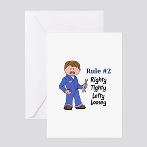 RIGHTY TIGHTY Greeting Cards