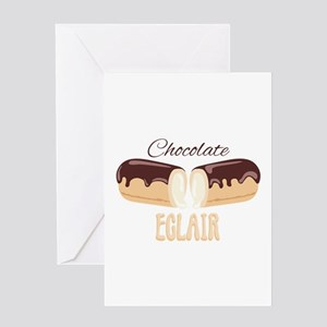 Chocolate Eclair Greeting Cards