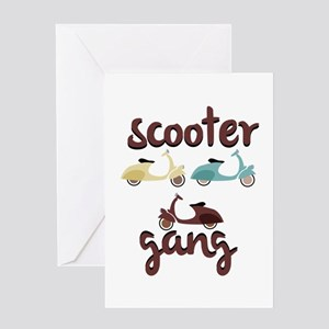 Scooter Gang Greeting Cards
