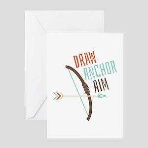 Draw Anchor Aim Greeting Cards