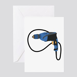 Electric Drill Greeting Cards
