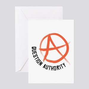 Question Authority Greeting Cards