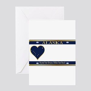 Alaska State License Plate Greeting Cards