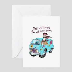 STILL A HIPPY Greeting Cards