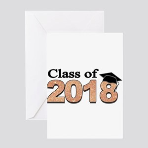 Class of 2018 Glitter Greeting Cards