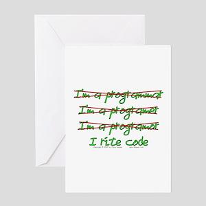 I Rite Code Greeting Card