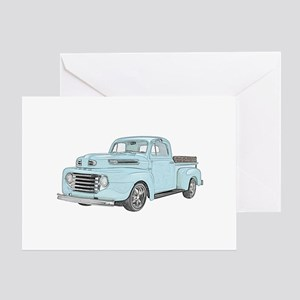 1950 Ford F1 Greeting Card