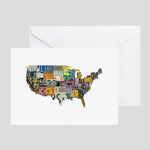 america license Greeting Card