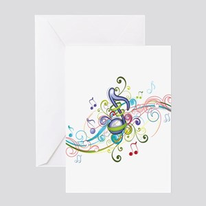 Music in the air Greeting Card