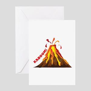 Volcano Kaboom Greeting Cards