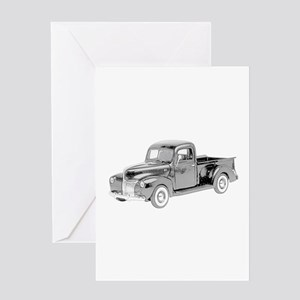 Ford Pickup 1940 -colored Greeting Card