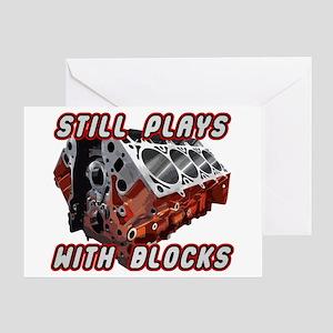 Engine Block Greeting Card