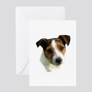 Jack Russell Watercolor Greeting Card