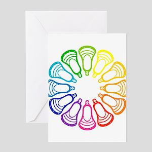 Lacrosse Spectrum Greeting Card