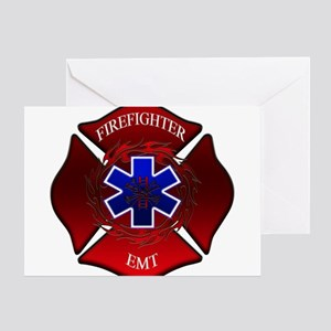 FIREFIGHTER-EMT Greeting Cards