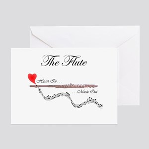 'The Flute' Greeting Card