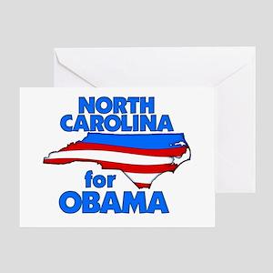 North Carolina for Obama Greeting Card