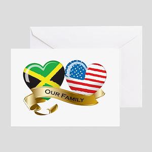 Jamaica/USA Flag_Our Family Greeting Card