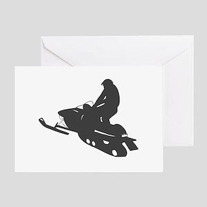 Snowmobile - Snowmobiling Greeting Card