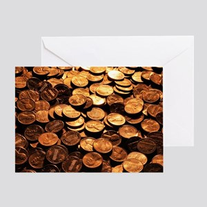 PENNIES Greeting Card