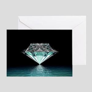 Aqua Diamond Greeting Card