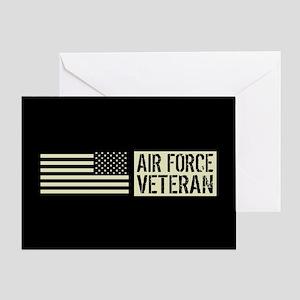 U.S. Air Force: Veteran (Black Flag) Greeting Card
