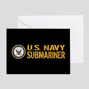 U.S. Navy: Submariner (Black) Greeting Card