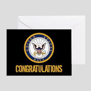 U.S. Navy: Congratulations (Black & Gold) Greeting
