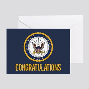 U.S. Navy: Congratulations (Blue & G Greeting Card