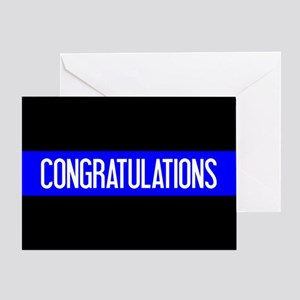 Police: Congratulations (The Thin Bl Greeting Card