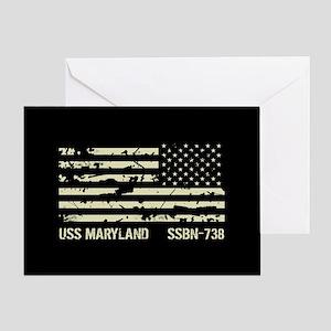 USS Maryland Greeting Card