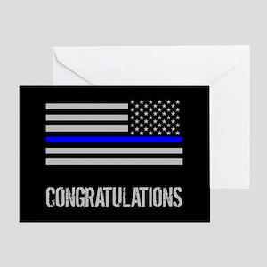 Police: Congratulations (Black Flag Greeting Card