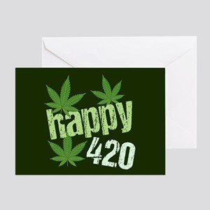 Happy 420 Marijuana Greeting Card