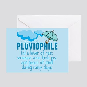 Pluviophile Greeting Card