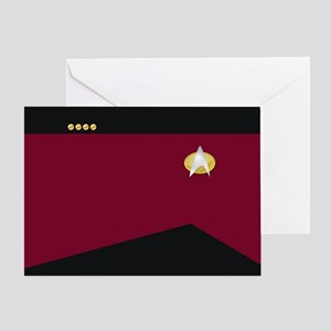 Star Trek: TNG Uniform - Captain Greeting Card