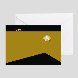 Star Trek: TNG Gold Lt. Cmdr. Greeting Card
