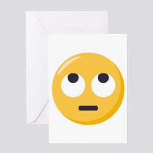 Face with rolling eyes Emoji Greeting Card