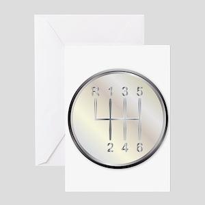 Six Speed Gear Knob Greeting Cards